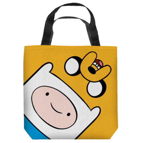 Adventure Time Cartoon Show FINN /& JAKE HEADS Tote Bag Many Sizes