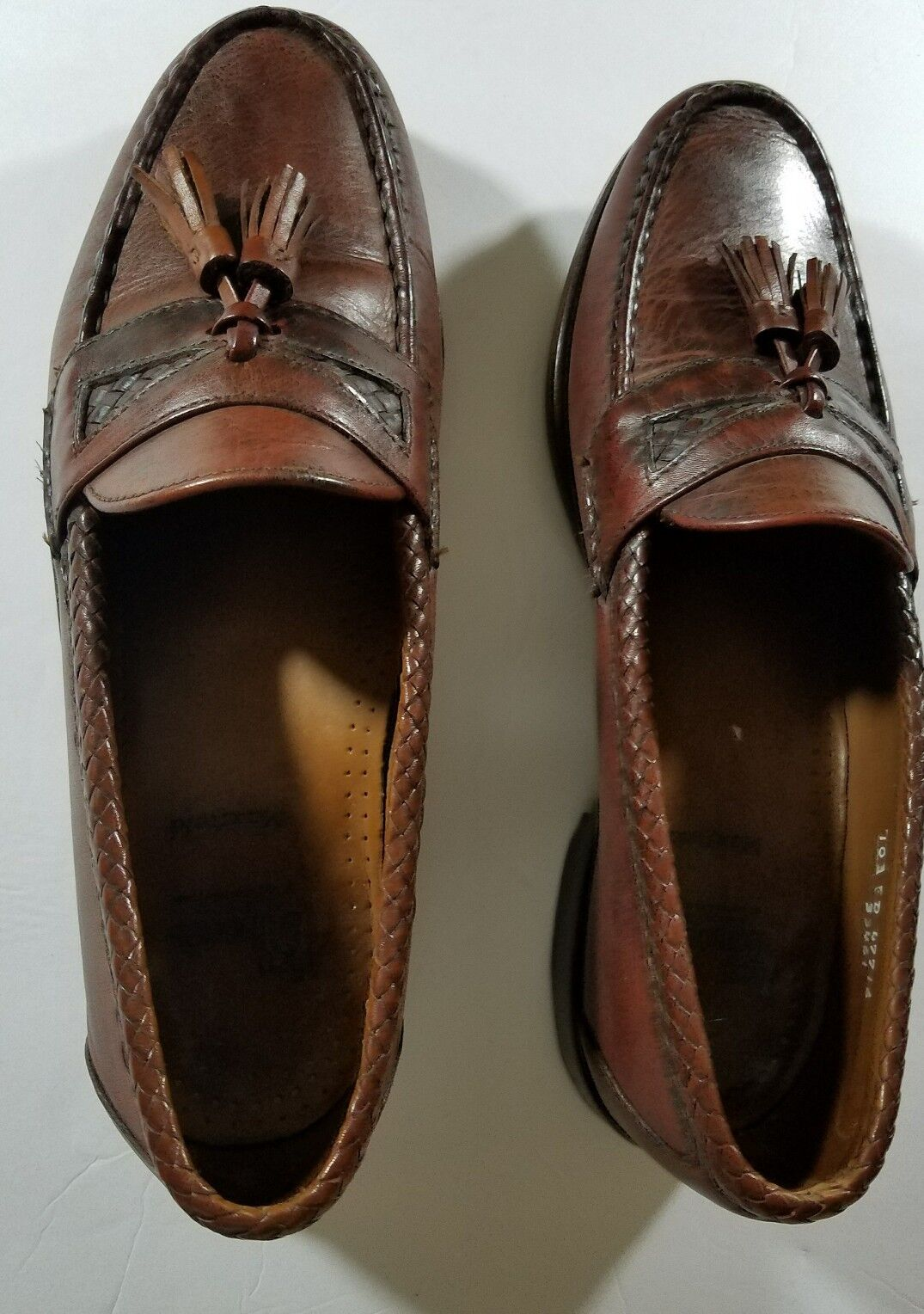 Allen Edmonds Maxfield Tassel new shoes Loafers shoes Brown Men's Size 10 D MEDIUM