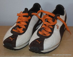 puma turin size 95 brown leather suede running casual