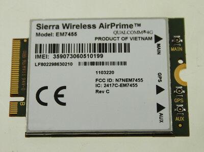 Sierra Wireless Airprime Em7455 Qualcomm 4g Lte Pci Express Wwan Card Module New Ebay