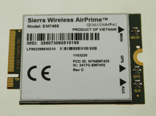 SIERRA WIRELESS AIRPRIME EM7455 QUALCOMM 4G LTE WWAN CARD MODULE IBM LENOVO  NEW