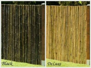 Sichtschutz-aus-Bambus-Gartenzaun-Windschutz-Zaun-DeLuxe-Black-in-13-Grosen