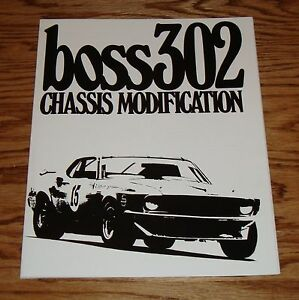 1969 1970 1971 ford mustang boss 302 chassis manual brochure 69 70 rh ebay com 1969 Mustang Boss 302 Boss 302 Engine