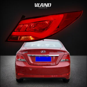LED Tail Lights For Hyundai Accent Verna Solaris 2012-2017 Red Lens ... a8cced4bf7
