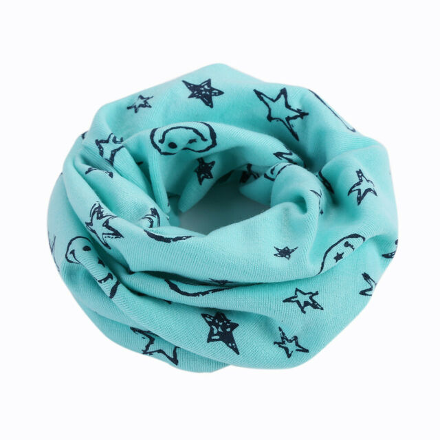 Kid Boy Girl Multi Function Cotton Neck Warmer Scarf Hat Bandana Headband Snood