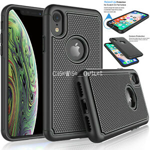 Shockproof-Heavy-Duty-Bumper-Hard-Case-Cover-For-Apple-iPhone-6-6s-7-8-Plus-X-XS