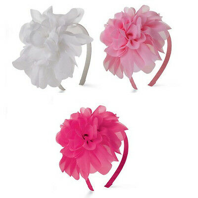 Mud Pie Hot Pink Chiffon Flower Soft Headband