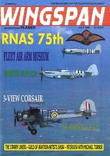 WINGSPAN MAGAZINE 1989 JUL 3-VIEW CORSAIR, STRINBAG SAGA, NIMROD REPLICA