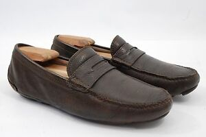 141fe53ae506e0 Coach Men s Slip-On Driving Penny Loafers Drivers Brown Leather ...