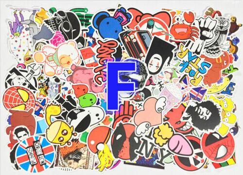 100pcs Sticker Bomb Graffiti Vinyl Car Skate Skateboard Laptop Luggage Decal F