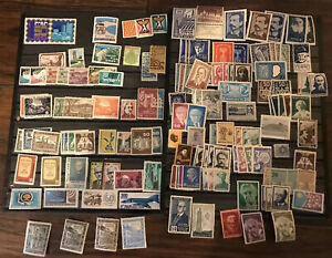 Jewish-Judaica-Israel-Zionism-Zionist-KKL-JNF-WZO-100-Stamps-amp-Cinderella-Lot