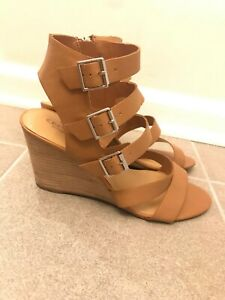 85d673b93bd Image is loading Crown-Vintage-Leather-Wedge-Sandal-Women-039-s-