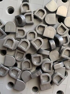 Lego Light Gray Corner Flat Tiles Smooth Finishing Buildings Roof Floor 25pcs