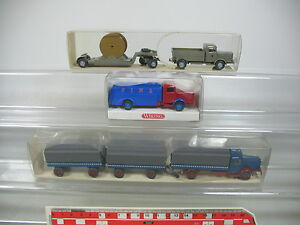 AP398-0-5-3x-Wiking-H0-Truck-Bussing-883-Tank-Fina-852-Post-478-Mint-Box
