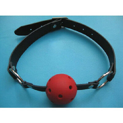 Mouth Ball Gag Bondage Restraint Adult Toy Faux Leather Gimp Fancy Dress Fetish