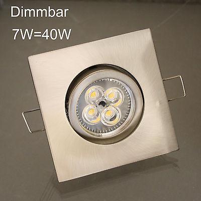3 x Power LED Deckenleuchte Einbaustrahler Downlight Set 4-eckig 230V Dimmbar