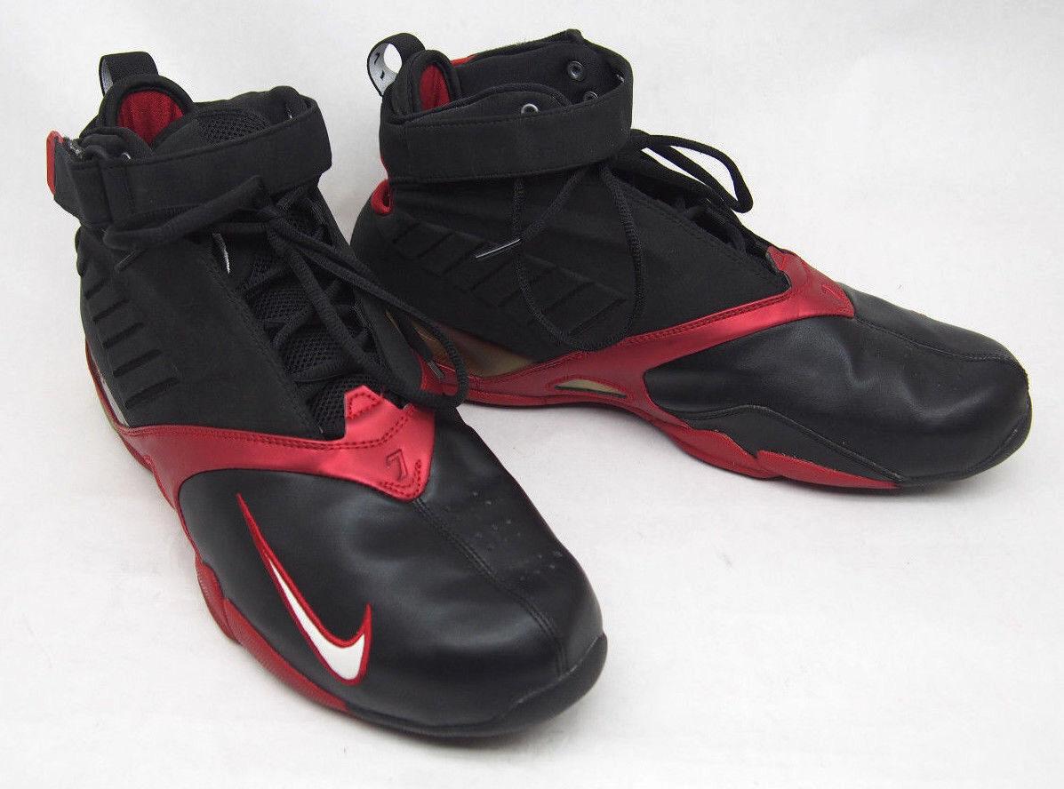 Nike Air Zoom Shoes Michael Vick Black Varsity Red sz 14 RARE 1ST ED. 308252-001