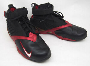 timeless design 8bc51 0b055 Image is loading Nike-Air-Zoom-Shoes-Michael-Vick-Black-Varsity-