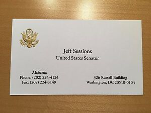 Official us senate business card president trump attorney general image is loading official us senate business card president trump attorney reheart Images