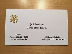 Official us senate business card president trump attorney general image is loading official us senate business card president trump attorney reheart Gallery