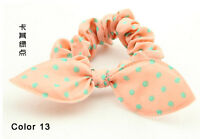 Bunny Ears Shape Dot Pattern Hair Rope Hair Accessories Bow Rubber Band Color 13