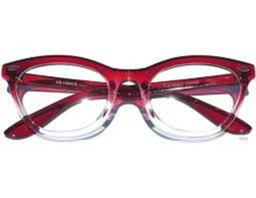 NEW VINTAGE RETRO RED FRAME WOMEN MEN CLEAR LENS EYEGLASSES GLASSES