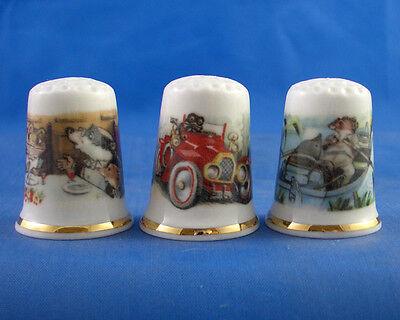 Birchcroft Thimbles Set of Three Owls