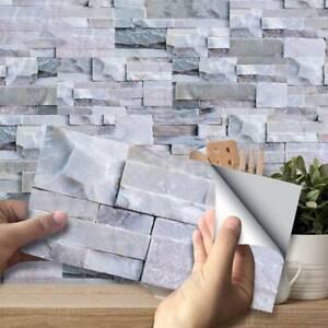 9x-Kitchen-Bathroom-Peel-amp-Stick-3D-Self-Adhesive-Mosaic-Stair-Wall-Tile-Sti-New