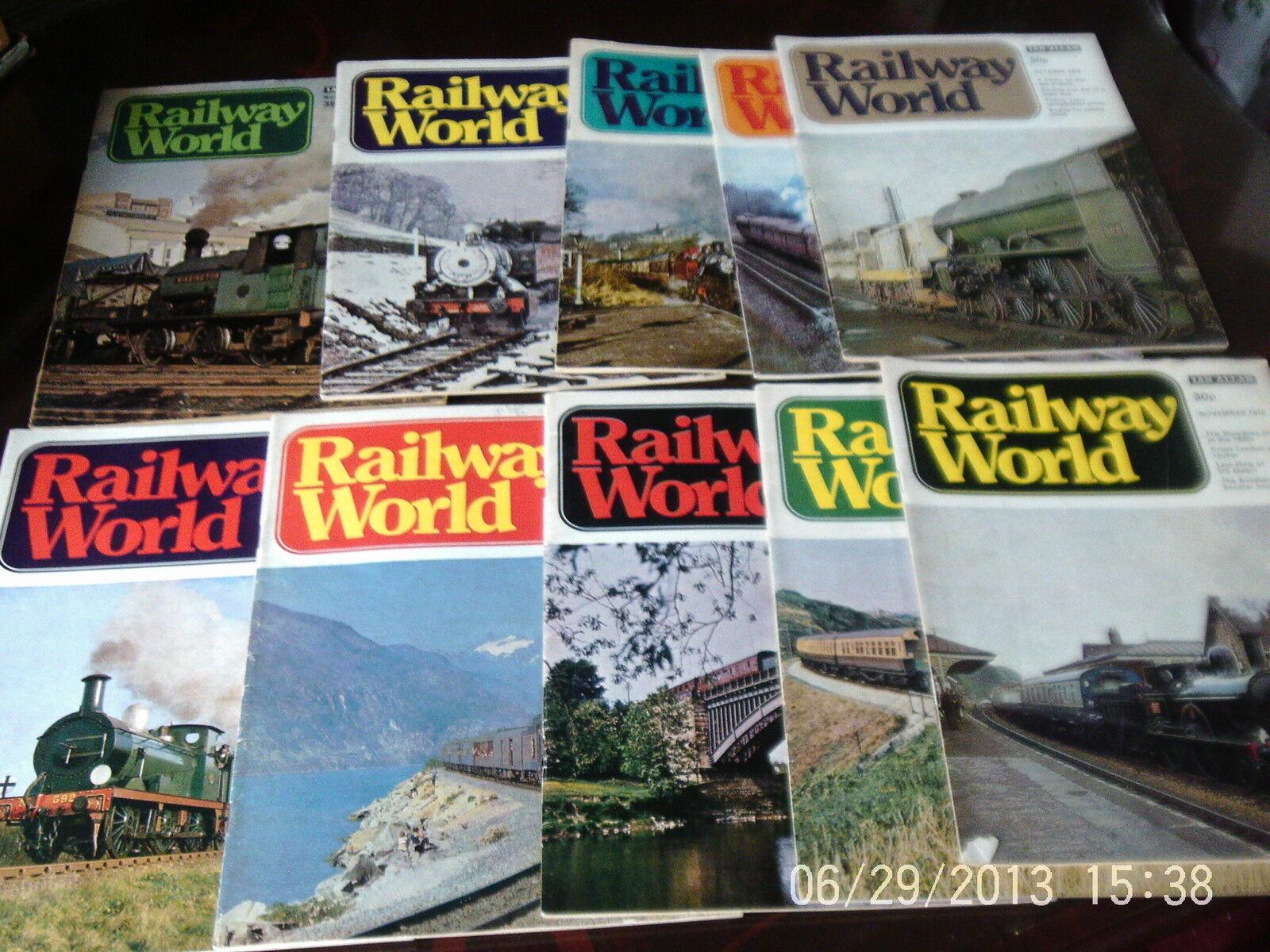 Railway world magazine 1976 & 1977 x 10 by ian allan see list