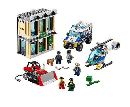 Lego 60140 City Police Bulldozer Break-In Building Kit  Nuovo