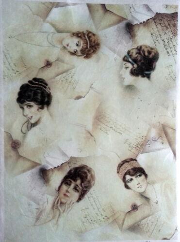 DECOPATCH álbumes de recortes mujeres Decoupage Hojas Papel De Arroz Decoupage