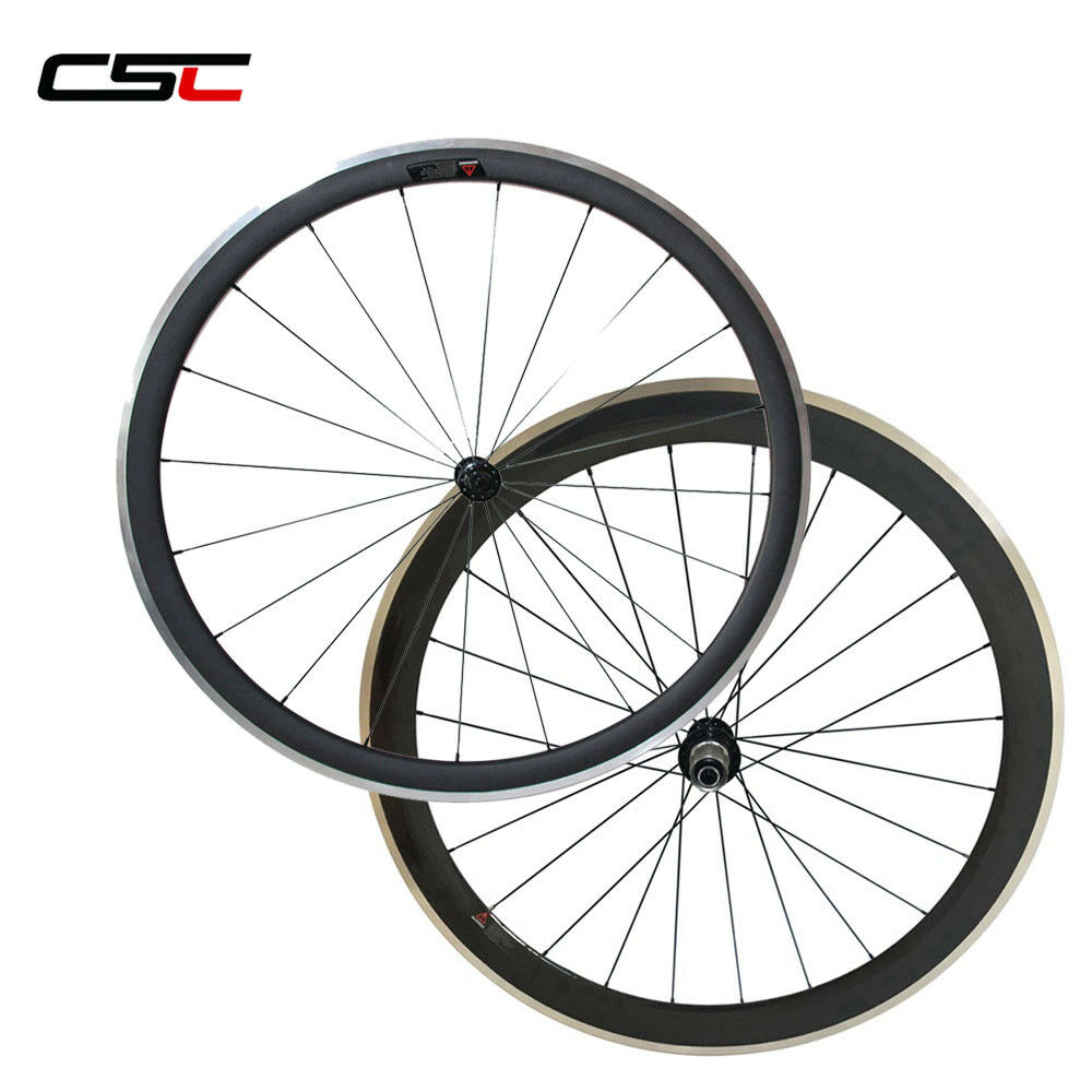 CSC 23mm wide 38+50mm Clincher carbon road bike wheels carbon wheels alloy brake