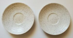 Homespun Churchill Stonecast Saucers Set of Two Range England Stoneware 5 1/2""