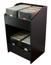 "LPBIN LP Storage Cabinet Modern Black / Bin Style Storage for 12"" vinyl records"