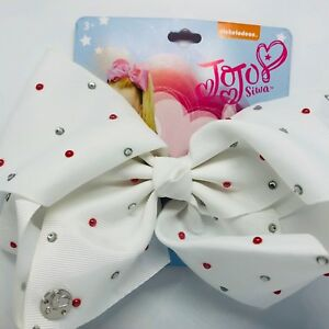 Large AuthenticBow Rhinestones JoJo Siwa Bow Pink Clip On