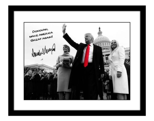President Donald Trump 11x14 SIGNED Photo YOUR NAME Personalized Make America