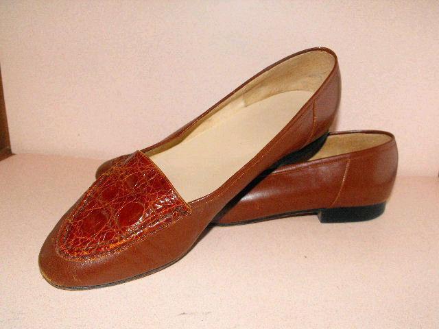 Divine Stubbs & & & Wootton Mocasines de piel de becerro marrón Con Puntera De Cocodrilo Marrón 10M  wholesape barato