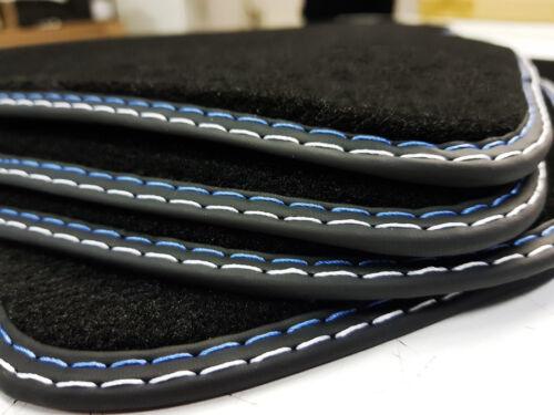 4x Tappetini BMW 3er e46 AUTO Tappeti Originale cucitura doppia BLU-ARGENTO-velluto