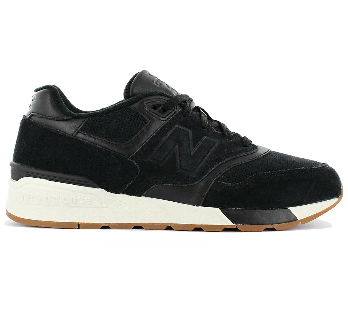 New Balance 597 Classics Shoes Men's Leather Sneakers Black ml597skg Trainers