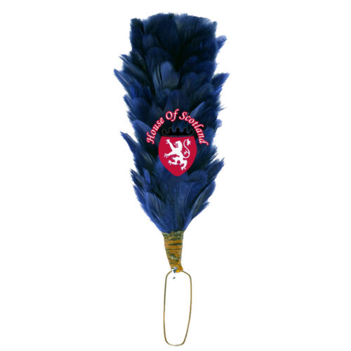 """Glengarry Cap Plume Feather Hackle Navy Blue 6/"""" Balmoral Hats Highland wear 15cm"""