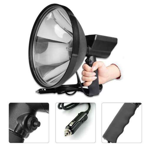 8000 LM 12V 100W HID 9in 240mm Handheld Lamp Camping Hunting Fishing SpotligHFUK