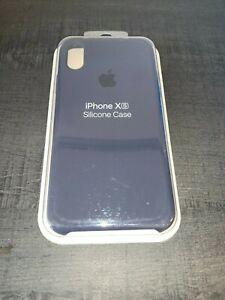 Apple coque en silicone pour Apple iPhone X/XS - Bleu