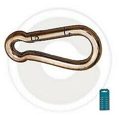 cf 2 pz maglie di giunzione in acciaio zincato Ø 5 mm maglia passacavi anello