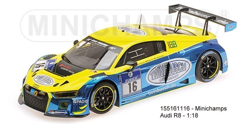 MINICHAMPS 155161116-Audi r8 LMS – Twin Busch Motorsport – Rast Busch Busch MAM