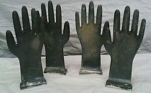 4 GLOVE MOLDS INDUSTRIAL STEAM PUNK HARD COMPOSITE PLASTIC