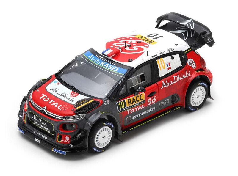 Citroen c3 wrc   10 1er rally de  Catalunya 2018-sebascravaten loeb 1 43 spark  marque célèbre