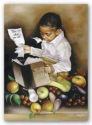 ART PRINT You Are What You Eat His//mini Edwin Lester 9x7 Teleky