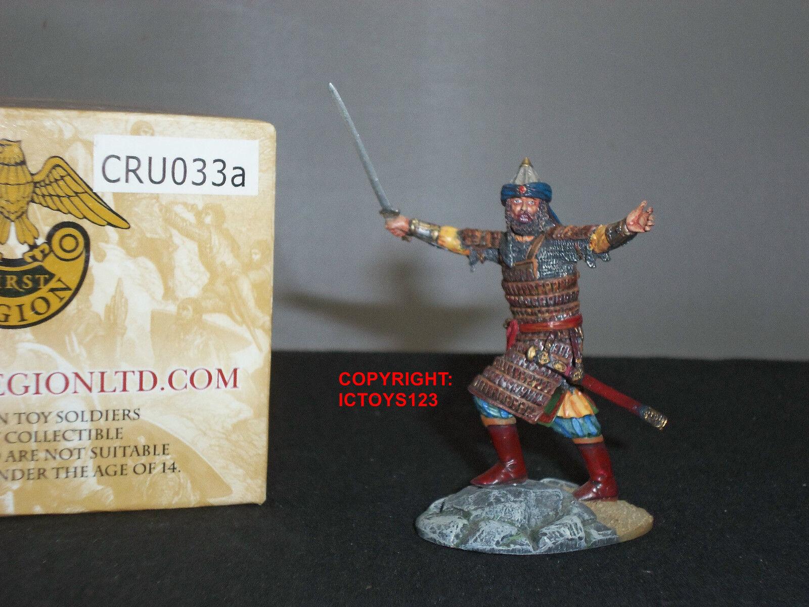 FIRST LEGION CRU033A CRUSADERS MAMLUK LEADER METAL TOY SOLDIER FIGURE