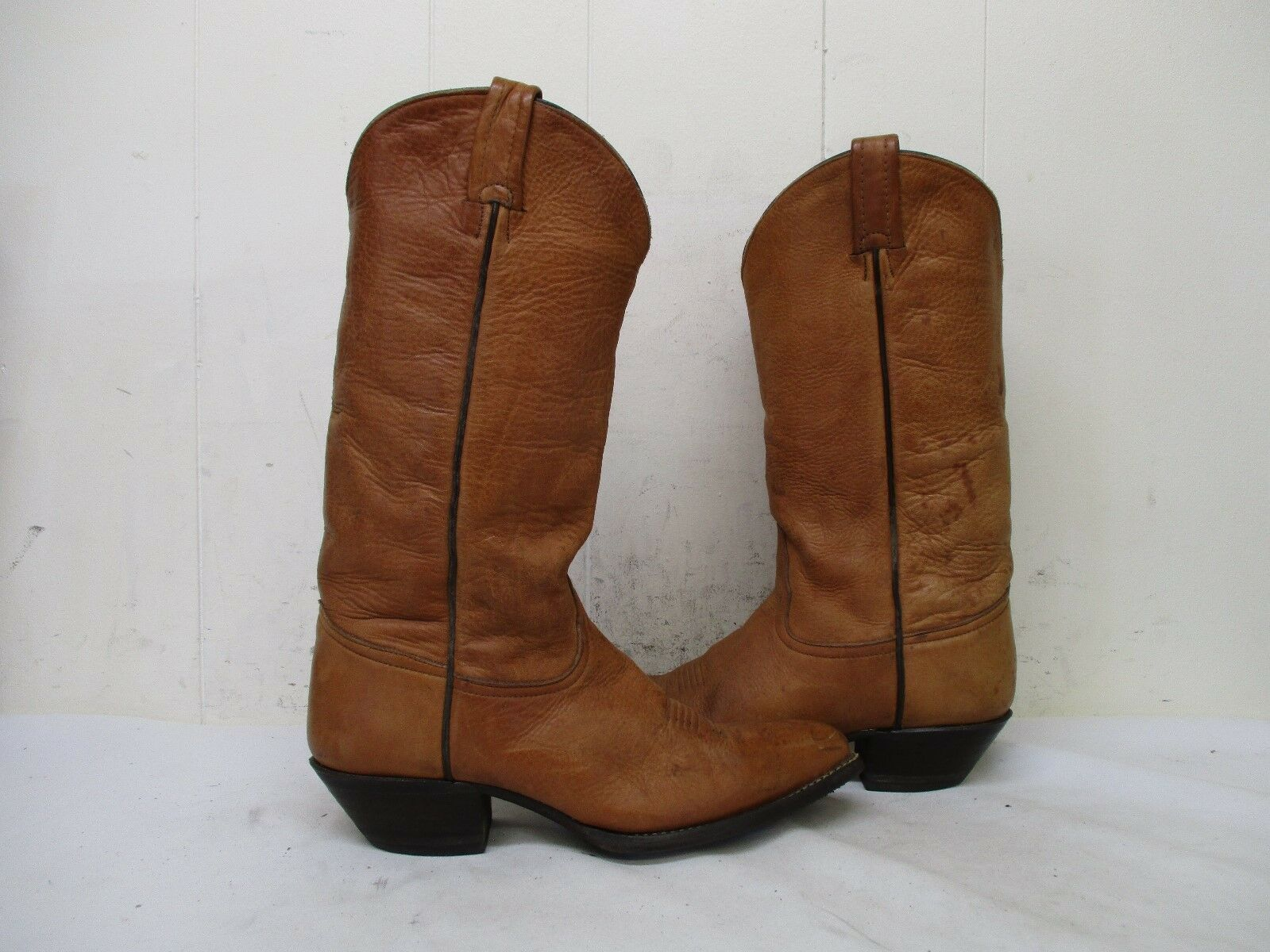Tony Boots Lama Brown Leather Cowboy Boots Tony Womens Size 7 M Style 1012L a4adb5