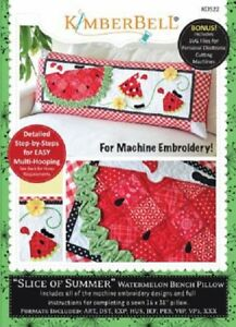 KimberBell-Machine-Embroidery-CD-In-the-Hoop-Bench-Pillow-Summer-KD522